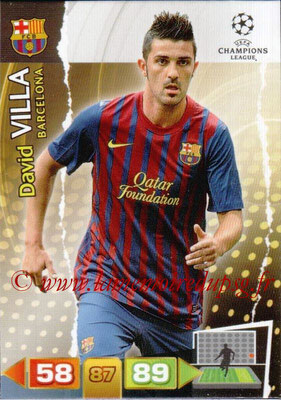 2011-12 - Panini Champions League Cards - N° 036 - David VILA(FC Barcelone)