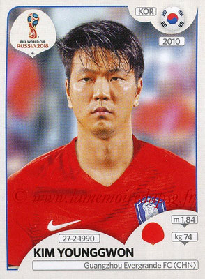 2018 - Panini FIFA World Cup Russia Stickers - N° 495 - Kim YOUNGGWON (Corée du Sud)