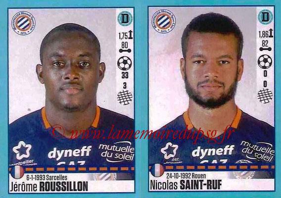 2016-17 - Panini Ligue 1 Stickers - N° 532 + 533 - Jérôme ROUSSILLON + Nicolas SAINT-RUF (Montpellier)