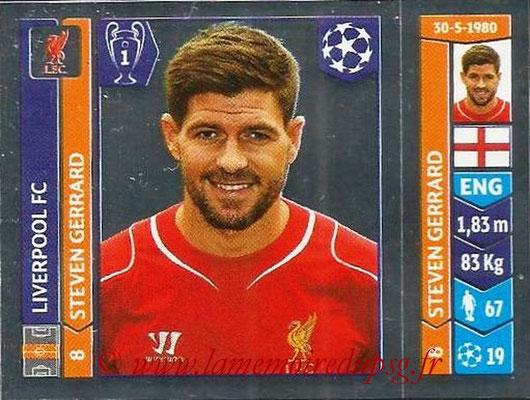2014-15 - Panini Champions League N° 150 - Steven GERRARD (Liverpool FC)