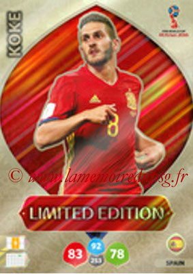 2018 - Panini FIFA World Cup Russia Adrenalyn XL - N° LE-KO - KOKE (Espagne) (Limited Edition)