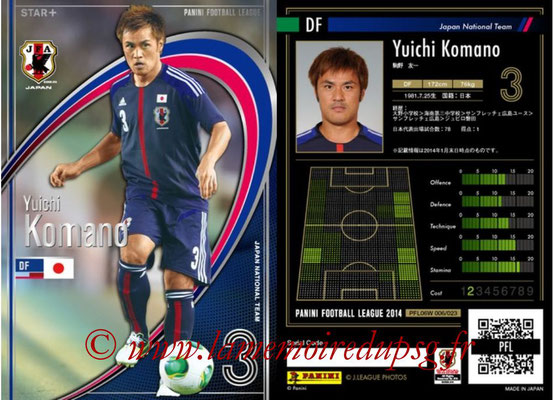 Panini Football League 2014 - PFL06W - N° 006 - Yuichi KOMANO (Japon) (Star +)