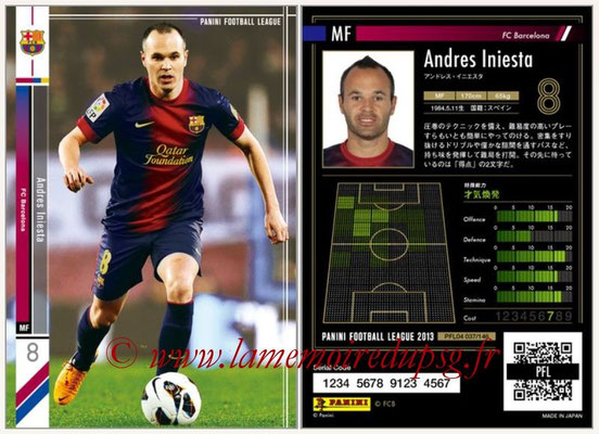 Panini Football League 2013 - PFL04 - N° 037 - Andres INIESTA (FC Barcelone)