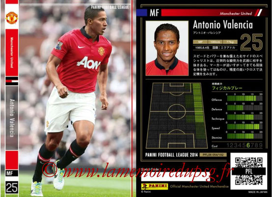 Panini Football League 2014 - PFL06 - N° 054 - Antonio VALENCIA (Manchester United FC)