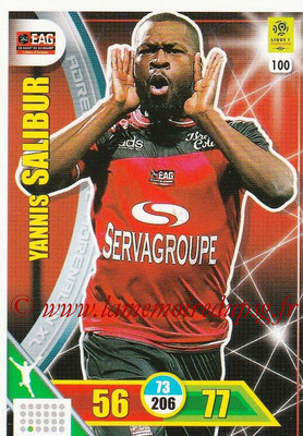 2017-18 - Panini Adrenalyn XL Ligue 1 - N° 100 - Yannis SALIBUR (Guingamp)