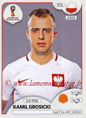 2018 - Panini FIFA World Cup Russia Stickers - N° 604 - Kamil GROSICKI (Pologne)