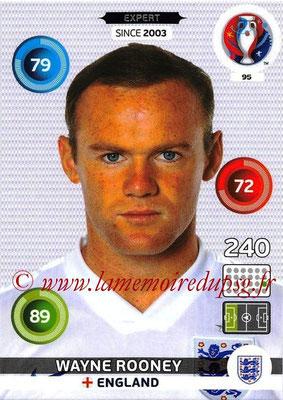 Panini Euro 2016 Cards - N° 095 - Wayne ROONEY (Angleterre) (expert)