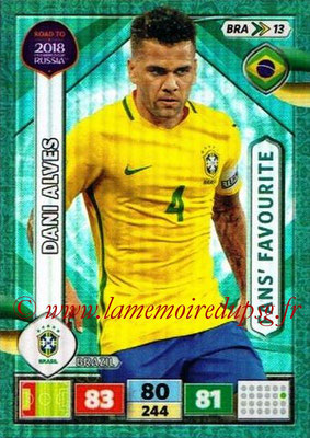 2018 - Panini Road to FIFA World Cup Russia Adrenalyn XL - N° BRA13 - Dani ALVES (Brésil) (Fans' Favourite)