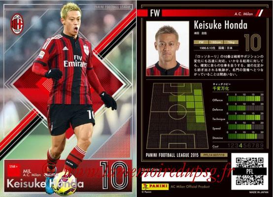 Panini Football League 2015 - PFL14 - N° 007 - Keisuke HONDA (Milan AC) (Star +)