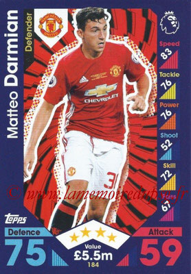 2016-17 - Topps Match Attax Premier League - N° 184