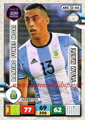 2018 - Panini Road to FIFA World Cup Russia Adrenalyn XL - N° ARG04 - Ramino Funes MORI (Argentine)