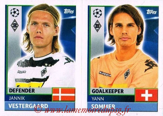 2016-17 - Topps UEFA Champions League Stickers - N° QFA 3-4 - Yann SOMMER + Jannik VESTERGAARD (VFL Borussia Mönchengladbach)