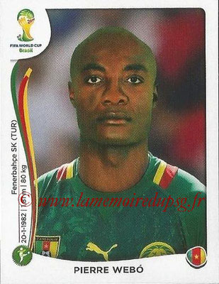 2014 - Panini FIFA World Cup Brazil Stickers - N° 106 - Pierre WEBO (Cameroun)