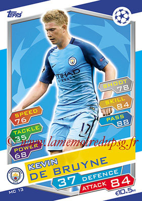 2016-17 - Topps UEFA Champions League Match Attax - N° MC13 - Kevin DE BRUYNE (Manchester City FC)