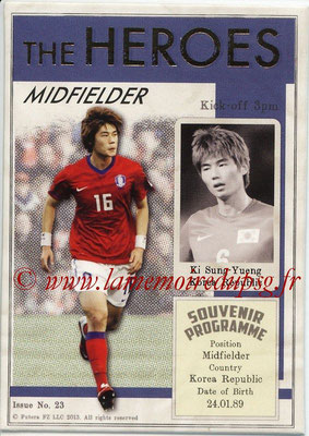 2013 - Futera World Football Unique - N° HER23 - Ki SUNG-YUENG (Corée du Sud) (Midfielder) (The Heroes)