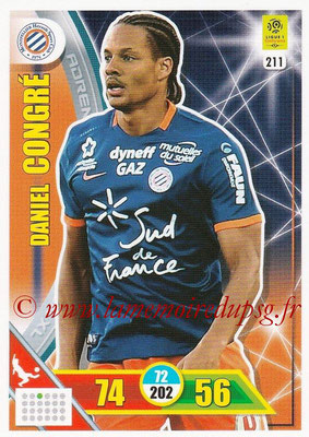 2017-18 - Panini Adrenalyn XL Ligue 1 - N° 211 - Daniel CONGRE (Montpellier)