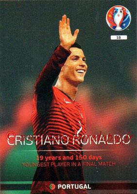 Panini Euro 2016 Cards - N° 018 - Cristiano RONALDO (Portugal) (Legend)