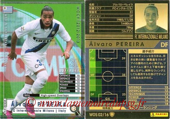 2012-13 - WCCF - N° WOS02 - Alvaro PEREIRA (Inter Milan) (World Superstar)