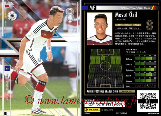 Panini Football League 2015 - PFL09P - N° 010 - Mesut ÖZIL (Allemagne) (Star)