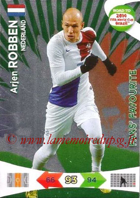 2014 - Panini Road to FIFA World Cup Brazil Adrenalyn XL - N° 201 - Arjen ROBBEN (Pays-Bas) (Fan's Favourite)