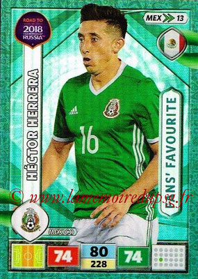 2018 - Panini Road to FIFA World Cup Russia Adrenalyn XL - N° MEX13 - Hector HERRERA (Mexique) (Fans' Favourite)
