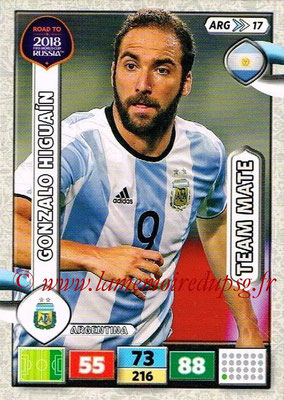 2018 - Panini Road to FIFA World Cup Russia Adrenalyn XL - N° ARG17 - Gonzalo HIGUAIN (Argentine)
