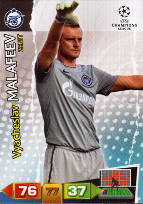 2011-12 - Panini Champions League Cards - N° 266 - Vyacheslav MALAFEEV (FC Zenit)