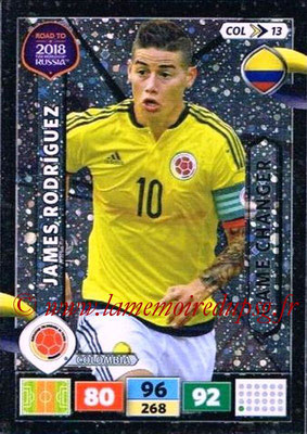 2018 - Panini Road to FIFA World Cup Russia Adrenalyn XL - N° COL13 - James RODRIGUEZ (Colombie) (Game Changer)