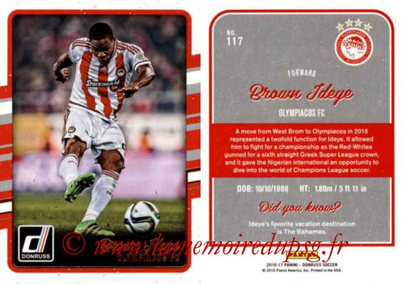 2016 - Panini Donruss Cards - N° 117 - Brown IDEYE (Olympiacos FC)