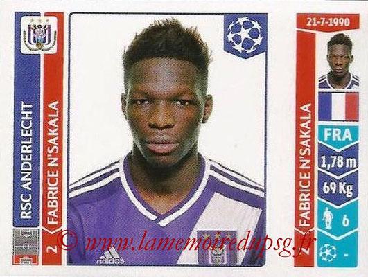 2014-15 - Panini Champions League N° 319 - Fabrice N'SAKALA (RSC Anderlecht)