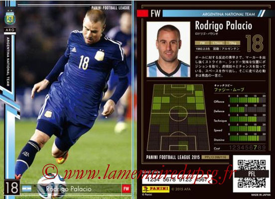 Panini Football League 2015 - PFL13 - N° 096 - Rodrigo PALACIO (Argentine)