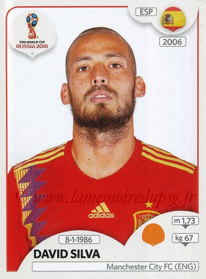 2018 - Panini FIFA World Cup Russia Stickers - N° 147 - David SILVA (Espagne)