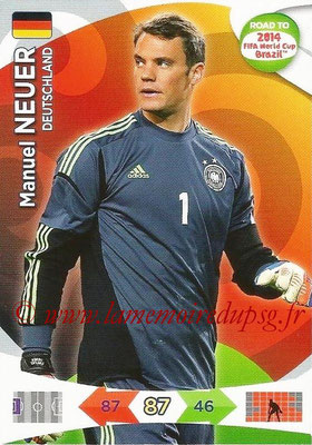 2014 - Panini Road to FIFA World Cup Brazil Adrenalyn XL - N° 046 - Manuel NEUER (Allemagne)