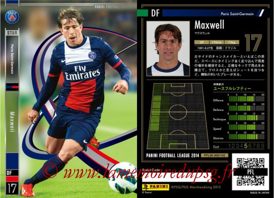 Panini Football League 2014 - PFL06 - N° 066 - MAXWELL (Paris Saint-Germain)