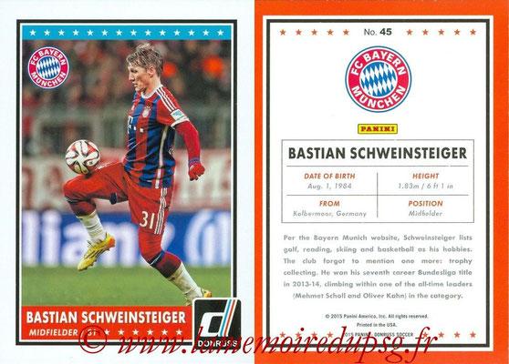 2015 - Panini Donruss Soccer - N° 045 - Bastian SCHWEINSTEIGER (FC Bayern Munich)