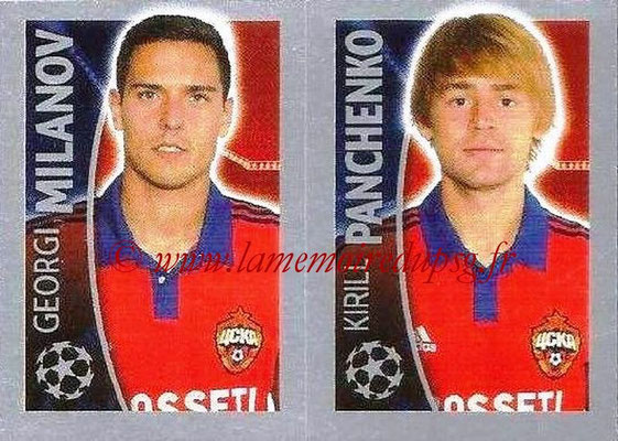 2015-16 - Topps UEFA Champions League Stickers - N° 133 - Georgi MILANOV + Kirill PANCHENKO (CSKA Moscou)