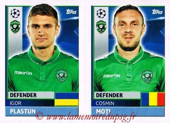 2016-17 - Topps UEFA Champions League Stickers - N° QFF 7-8 - Cosmin MOTI + Igor PLASTUN (PFC Ludogoretz Razgrad)