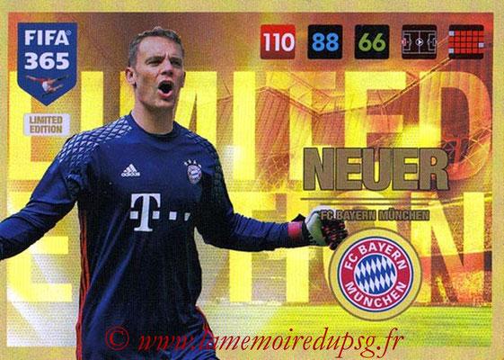 2016-17 - Panini Adrenalyn XL FIFA 365 - N° LE25 - Manuel NEUER (FC Bayern Munich) (Limited Edition)