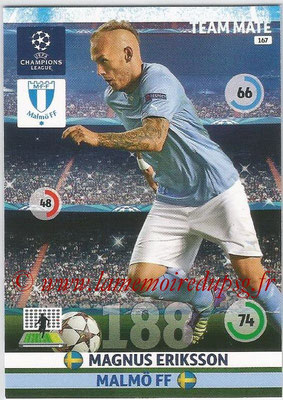 2014-15 - Adrenalyn XL champions League N° 167 - Magnus ERIKSSON (Malmö FF)