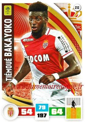 2016-17 - Panini Adrenalyn XL Ligue 1 - N° 212 - Témoué BAKAYOKO (Monaco)