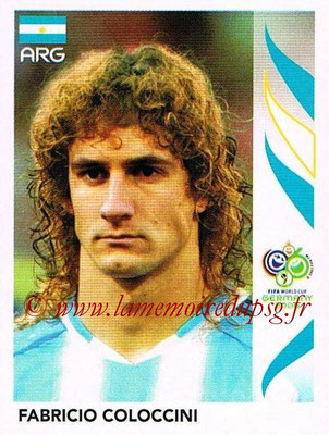 2006 - Panini FIFA World Cup Germany Stickers - N° 173 - Fabricio COLOCCINI (Argentine)