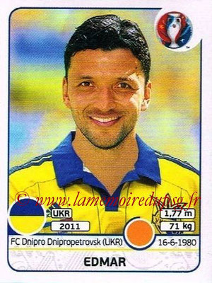 Panini Euro 2016 Stickers - N° 284 - EDMAR (Ukraine)