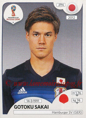 2018 - Panini FIFA World Cup Russia Stickers - N° 660 - Gotoku SAKAI (Japon)