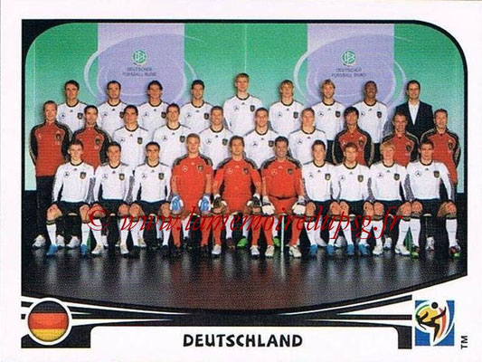 2010 - Panini FIFA World Cup South Africa Stickers - N° 258 - Équipe Allemagne