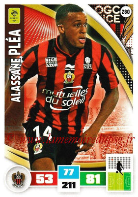 2016-17 - Panini Adrenalyn XL Ligue 1 - N° 280 - Alassane PLEA (Nice)