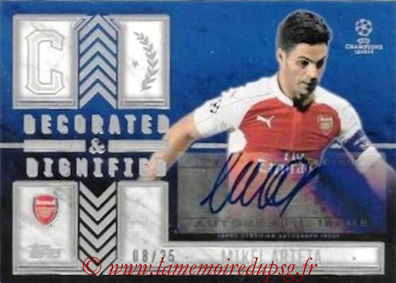 N° DDA-MA - Mikel ARTETA (Arsenal FC) (Decorated and Dignified Autographs)