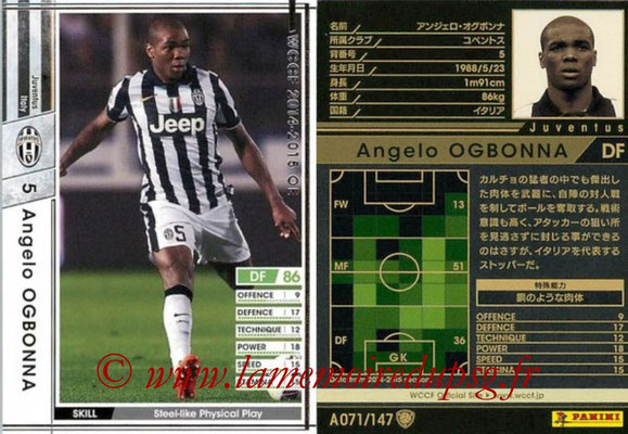 2014-15 - WCCF - N° A071 - Angelo OGBONNA (Juventus FC)