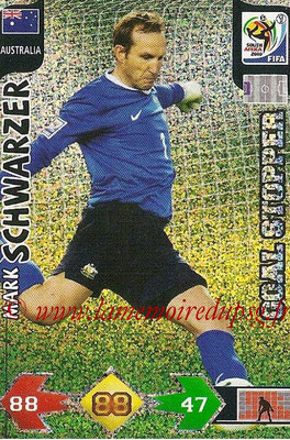 2010 - Panini FIFA World Cup South Africa Adrenalyn XL - N° 031 - Mark SCHWARZER (Autralie) (Goal Stopper)
