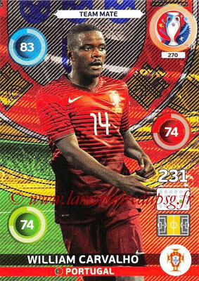 Panini Euro 2016 Cards - N° 270 - William CARVALHO (Portugal)