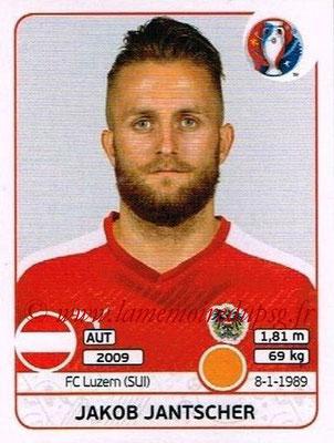 Panini Euro 2016 Stickers - N° 640 - Jakob JANTSCHER (Autriche)